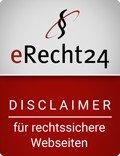 erecht24 siegel disclaimer rot - Impressum